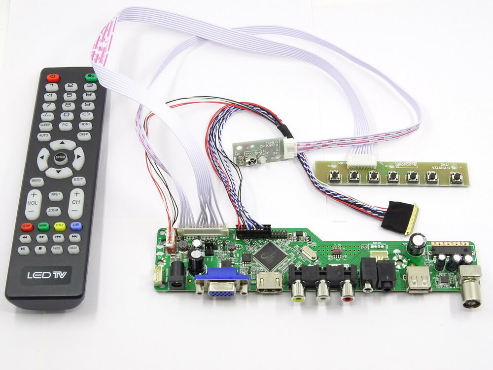 Kit for  LM185WH1-TLA4 TV+HDMI+VGA+USB LCD LED screen Controller Driver Board