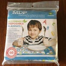 Childrens Disposable Place Mats - Alphabet - Learning - Adhesive