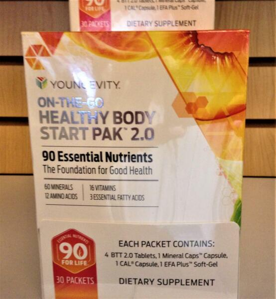 Youngevity On The Go Healthy Body Start Pak 2.0 30 packets by Dr Wallach