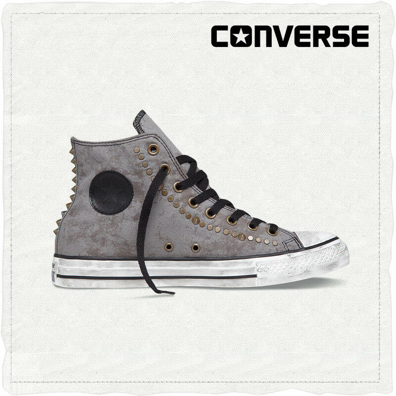 934866dafc2 Details about CONVERSE CHUCK TAYLOR ALL STAR STUDDED HI MOREL DARK BROWN  MENS UK 8 8.5   NEW