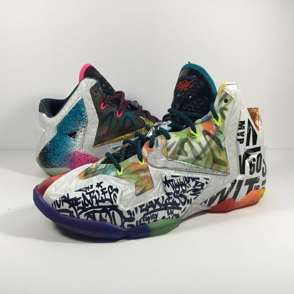 competitive price 2ac3e 0d161 Details about Nike Lebron 11 XI What The Lebron