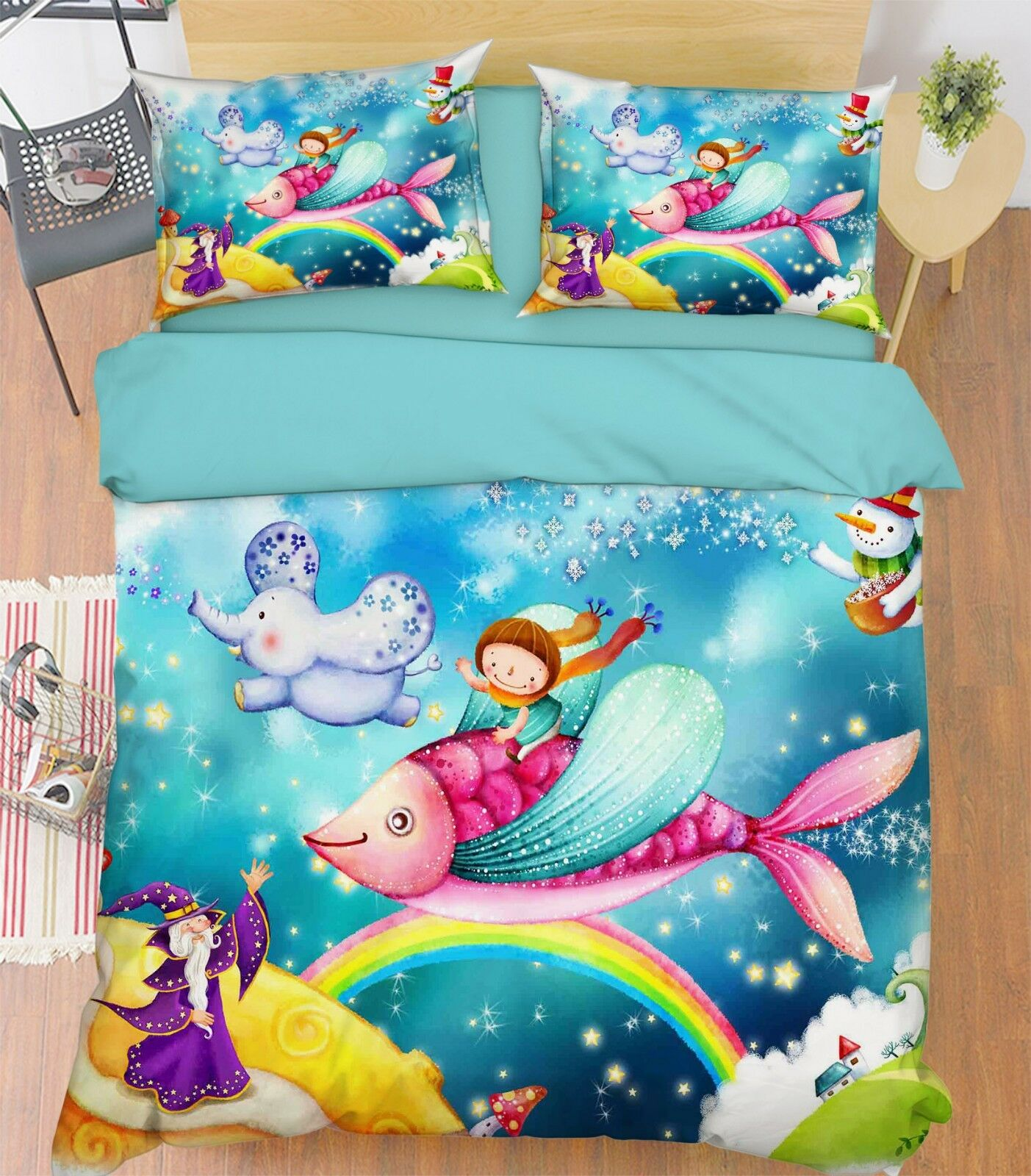 3d Traumraum 302 Bett Kissenbezüge Steppen Duvet Decken Set Single Königin  De