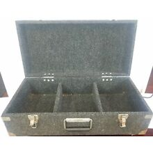 Unitec Carpeted Pro DJ Vinyl carpeted record Case for 45 inch 3 part Stanley