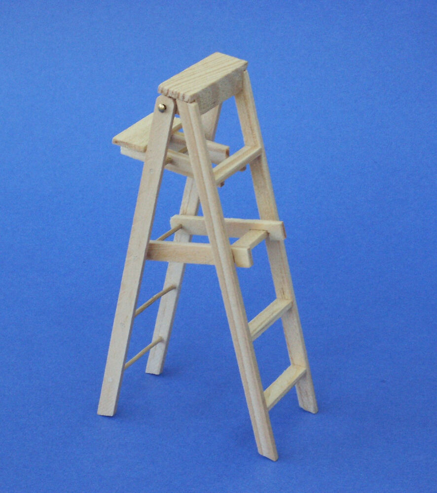 Ladder wood dollhouse miniature T8442  1//12 scale