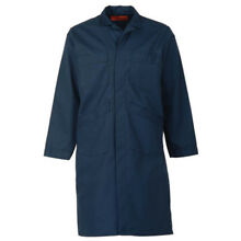 NAVY BLUE SHOP COAT (up to size 60 in regular and tall length-NO EXTRA CHARGE)