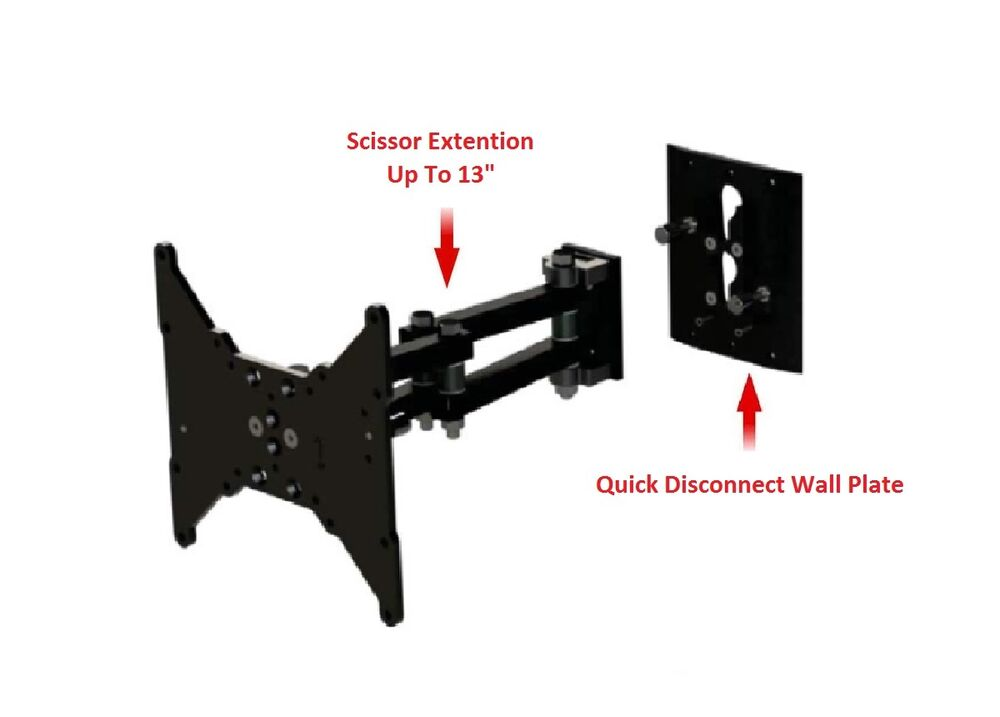 Tv Wall Mount Up To 42 Quot Removable Disconnect Arm Scissor