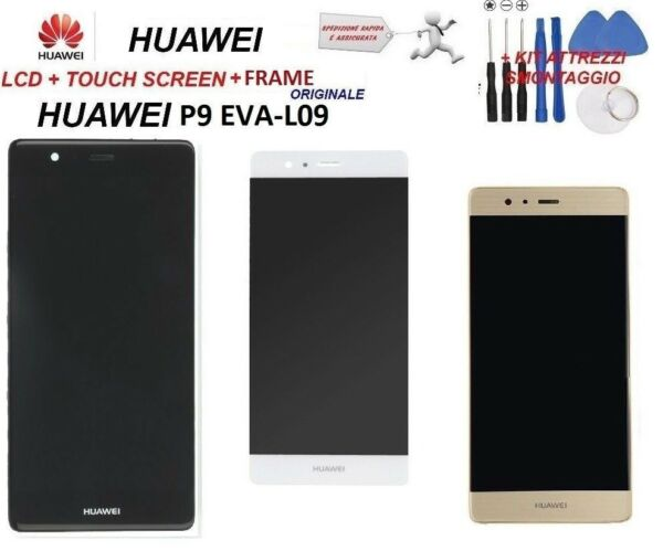 Display LCD HUAWEI P9 EVAL-09 schermo Originale TOUCH SCREEN FRAME NUOVO