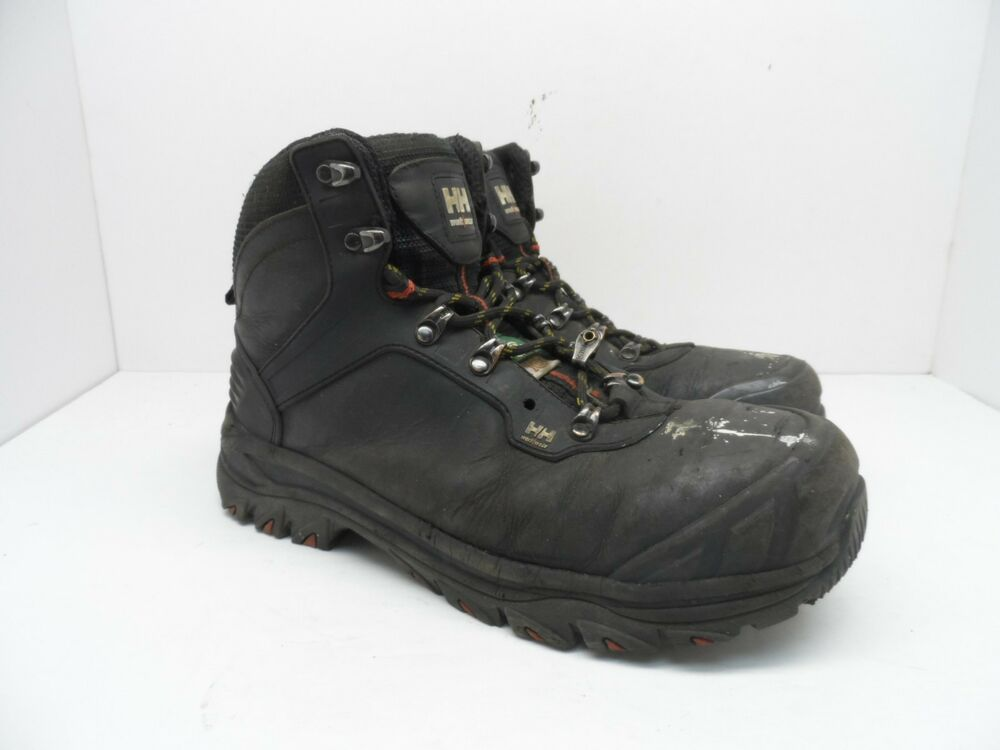 cec5ff0bf5d6 Details about HELLY HANSEN WORKWEAR Men s Composite Toe Composite Plate  Leather Boot Black 8.5