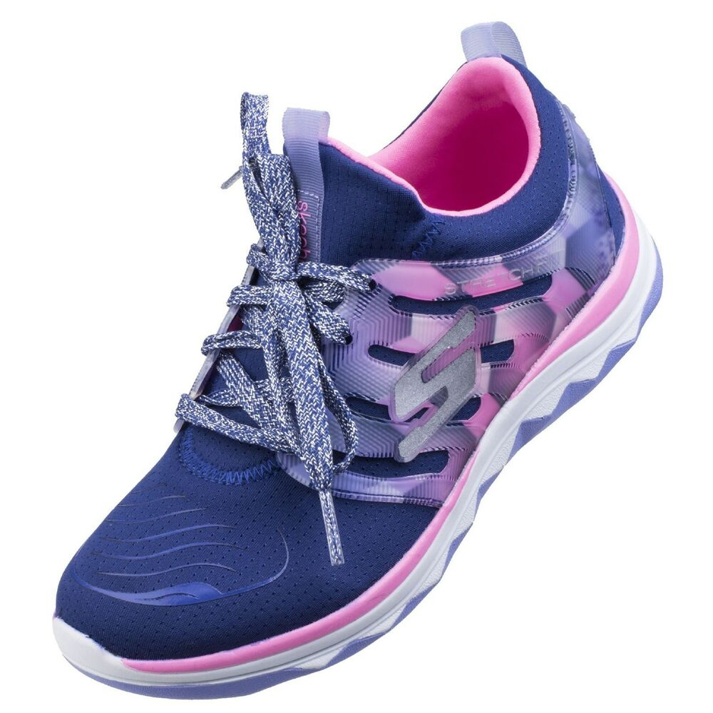 b4992a3db65 Details about Skechers Diamond Runner Trainers SK81560L Childrens Sports  Fashion Girls Kids