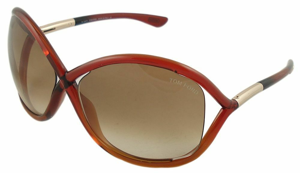 ae49c5850a4 Tom Ford Whitney Sunglasses Transparent Cherry Brown Lens FT9 68F 64-14 110