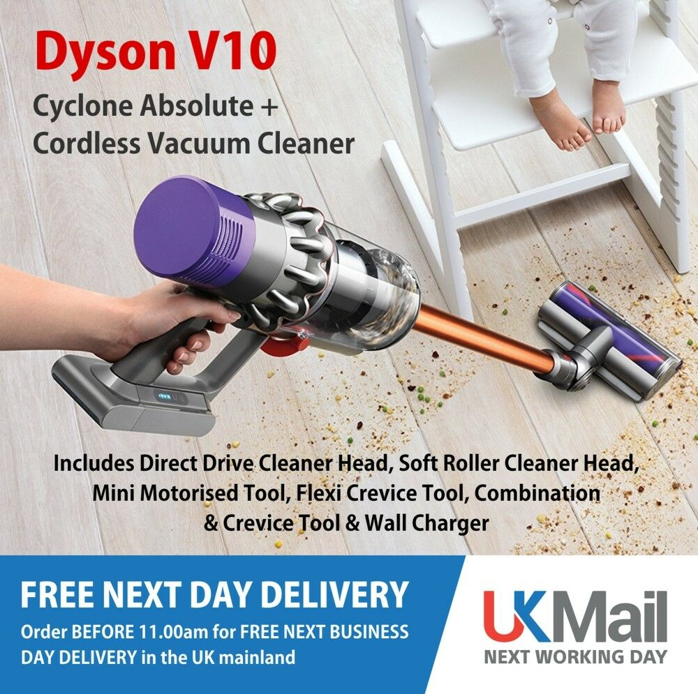 dyson cyclone v10 absolute cordless vacuum cleaner ebay. Black Bedroom Furniture Sets. Home Design Ideas