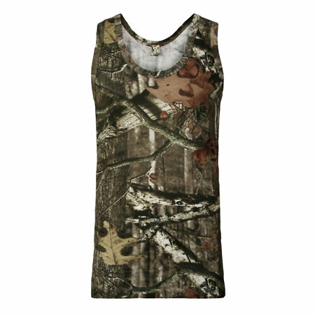 img-Mens Camouflage Camo VEST TOP T-Shirt Hunter Real Tree Jungle Forest Print