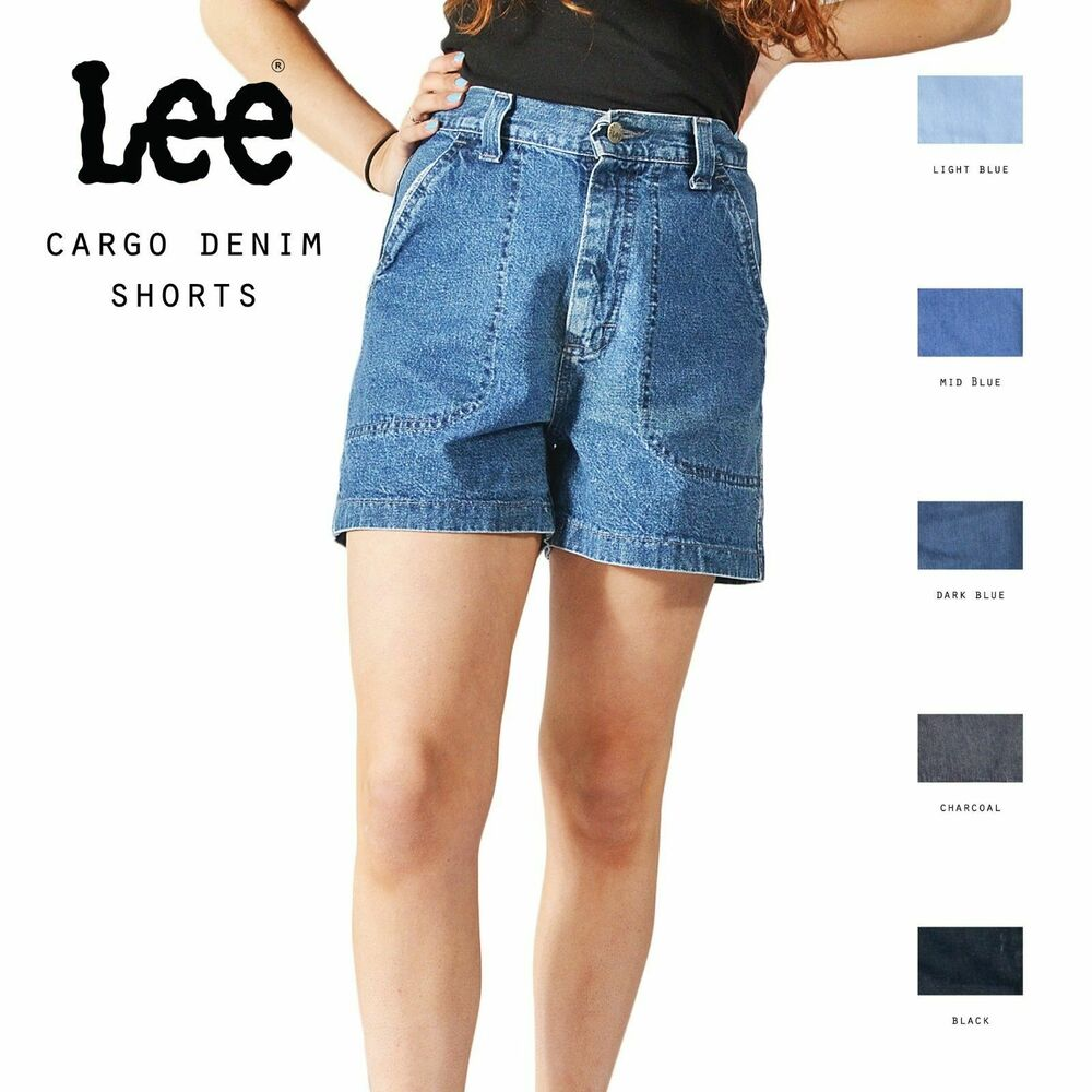 0362631fa6 Details about GRADE A LEE VINTAGE WOMENS HIGH WAISTED CARGO SHORTS SIZE 6 8  10 12 14 16