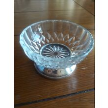 Vintage William Adams Italian silver plated glass dish