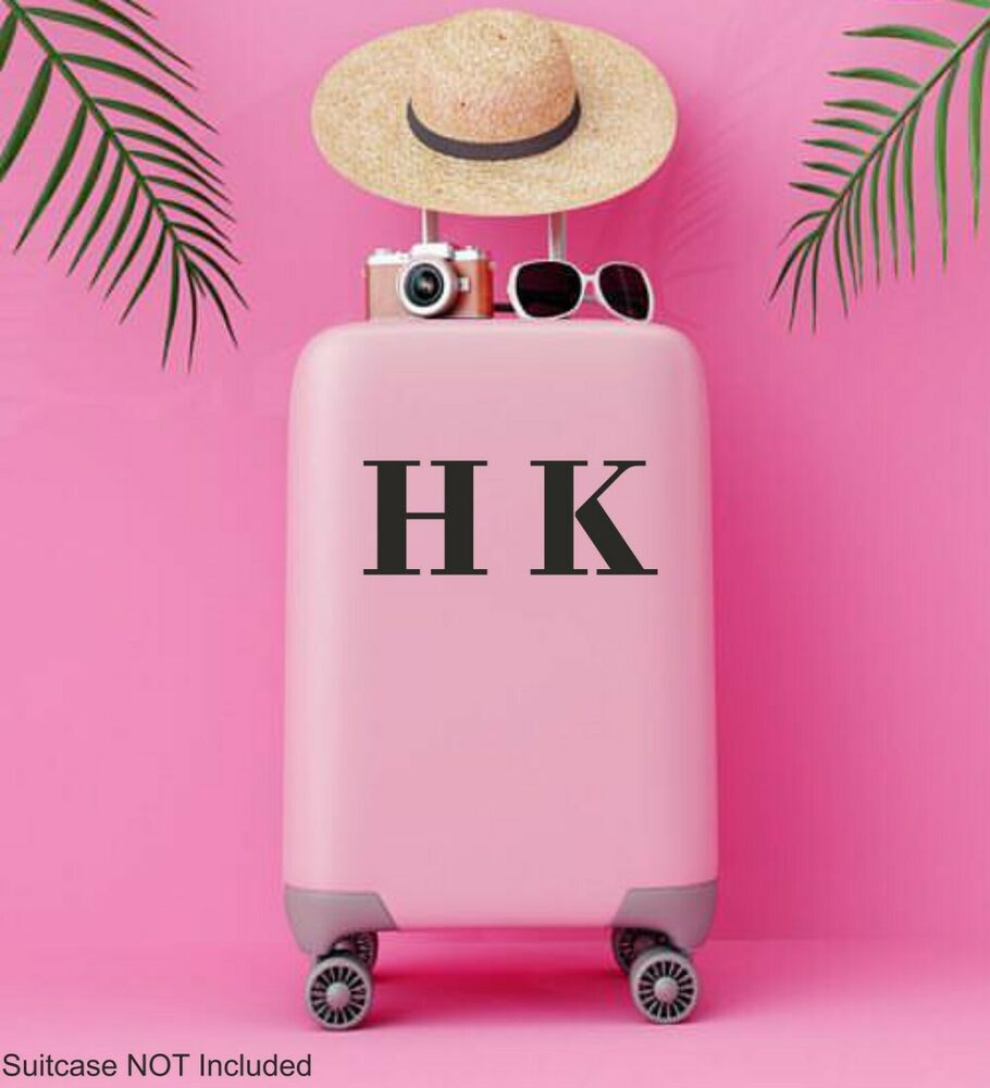 Personalised Suitcase Initials Name Sticker