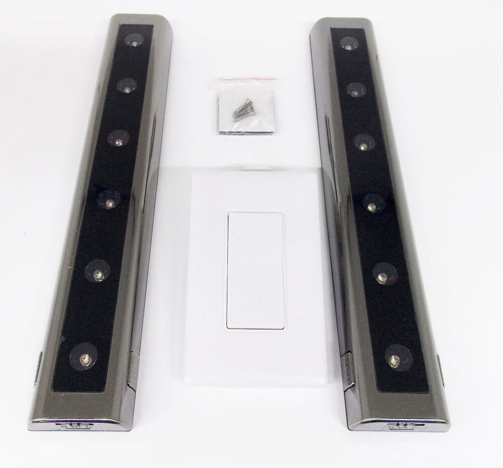 Ge Wireless 2 Pack 12 Quot Led Light Bars Battery Powered Wall