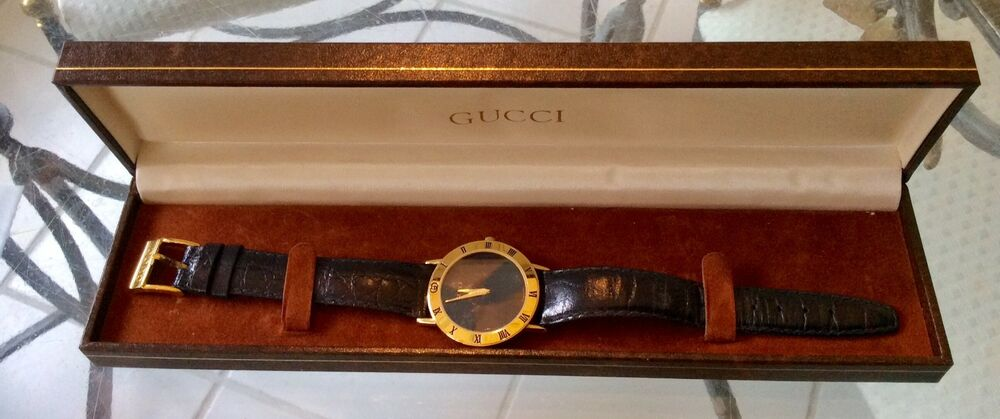 9d3b8b05dfd Gucci 3000 -2- M Swiss Made Wrist Watch for Man Tested and Working new  Battery