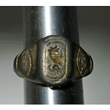 Byzantine Empire silver gilded men's ring ca. 6th AD, size 8
