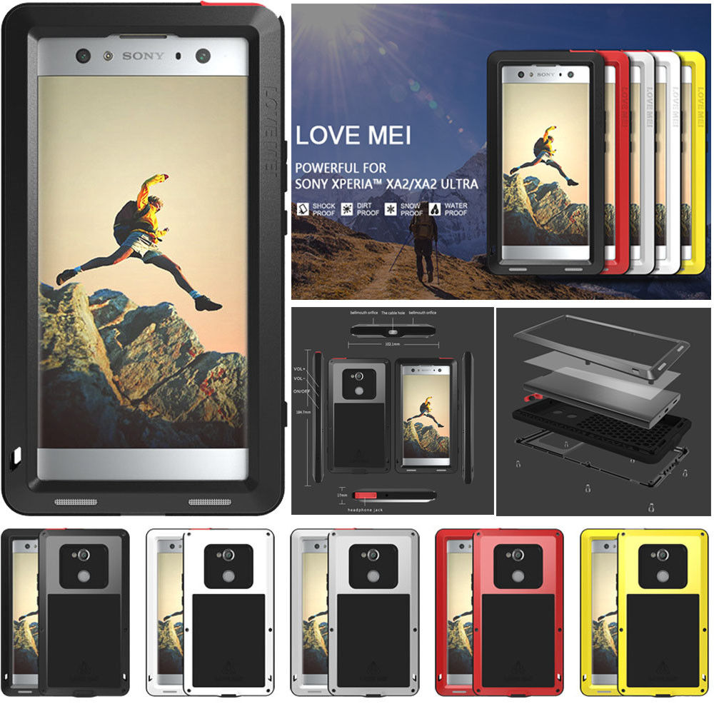 detailed look daca2 46d3d LOVE MEI Metal Shockproof Waterproof Case Cover for SONY Xperia XA2 / XA2  Ultra | eBay