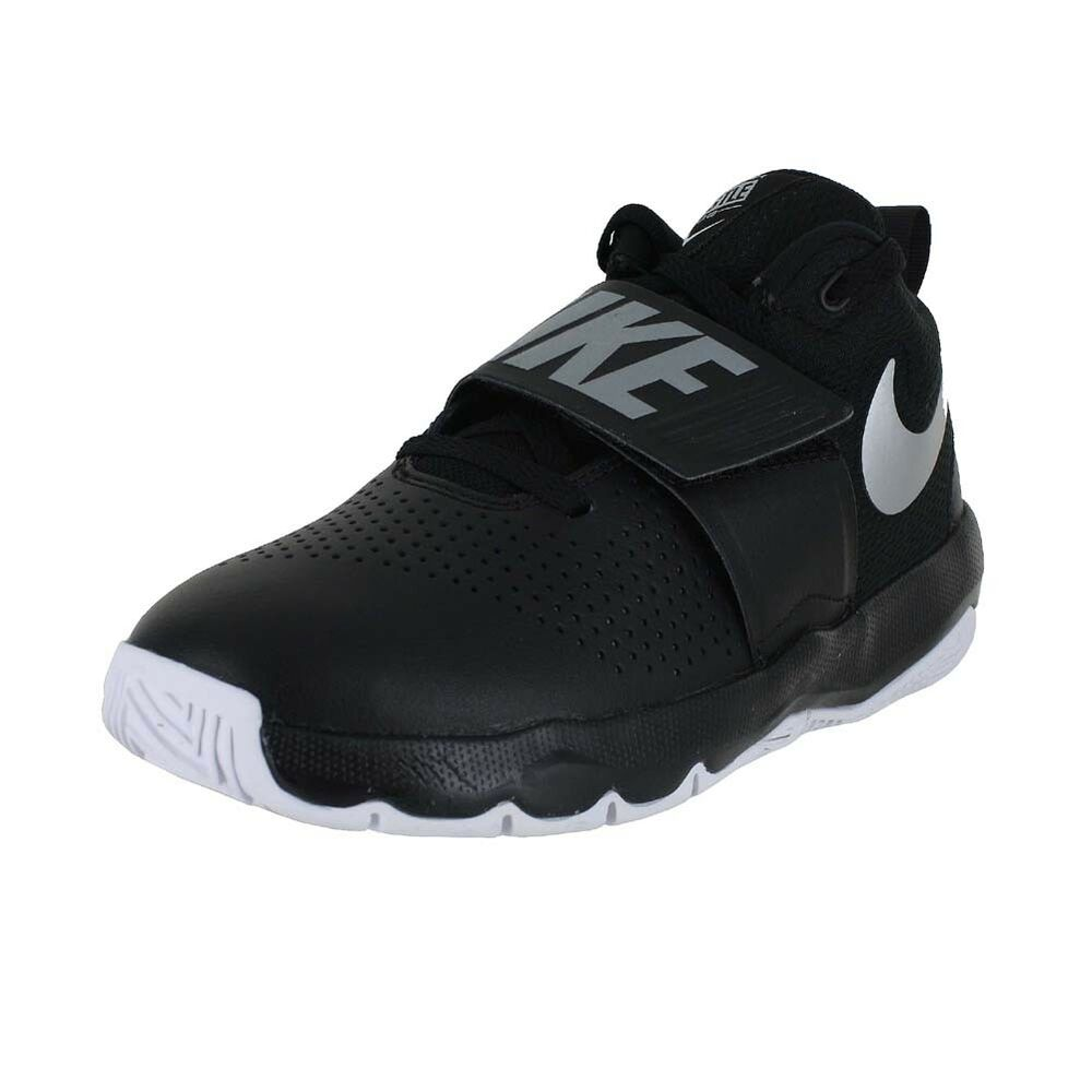 new styles fe8ee 89551 Details about NIKE TEAM HUSTLE D 8 GS BLACK SILVER WHITE 881941-001 BIG  KIDS US SIZES