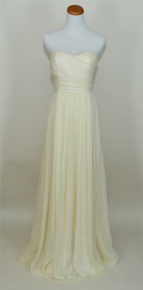 J.CREW $575 SILK CHIFFON ARABELLE WEDDING BALL GOWN 10P IVORY LONG ...
