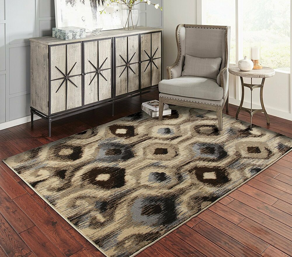 Modern area rugs for living room 8x10 floral rug 5x7 ebay - Living room area rugs contemporary ...