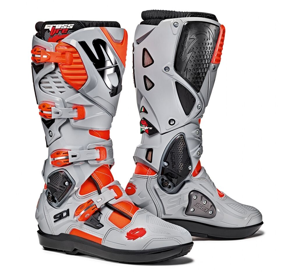 04609db6a36 Details about SIDI OFF-ROAD CROSS ENDURO BOOTS CROSSFIRE 3 SRS ROJO  FLUO-ASH TG 42-47