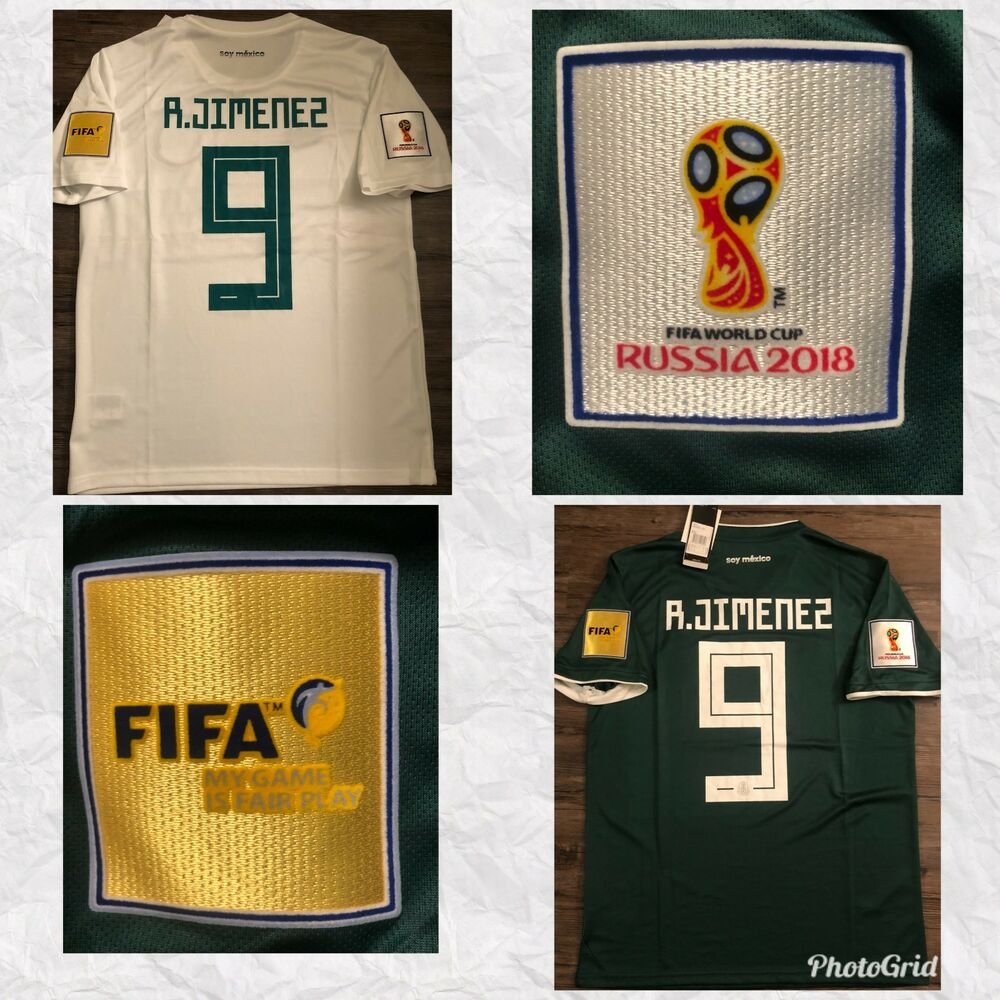 fdc2559cdc49 Details about  FIFA WORLD CUP 2018   RAUL JIMENEZ   MEXICO AWAY-HOME JERSEY