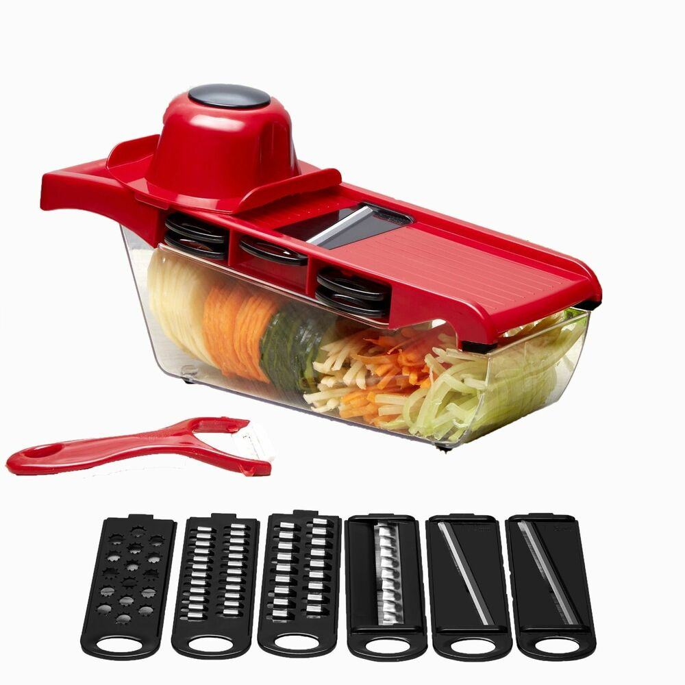 Steel Mandoline Slicer Adjustable Blades Kitchen Vegetable ...