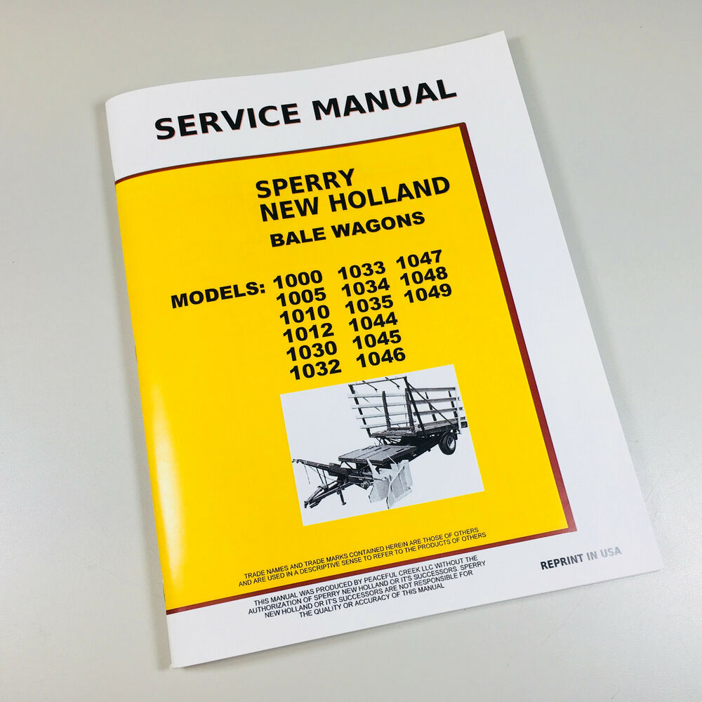 NEW HOLLAND 1030 1032 1033 1034 STACKLINER BALE WAGON SERVICE REPAIR MANUAL  | eBay