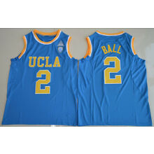 UCLA Lonzo Ball #2 College Basketball Throwback Stitched Jersey Blue Size S-2XL