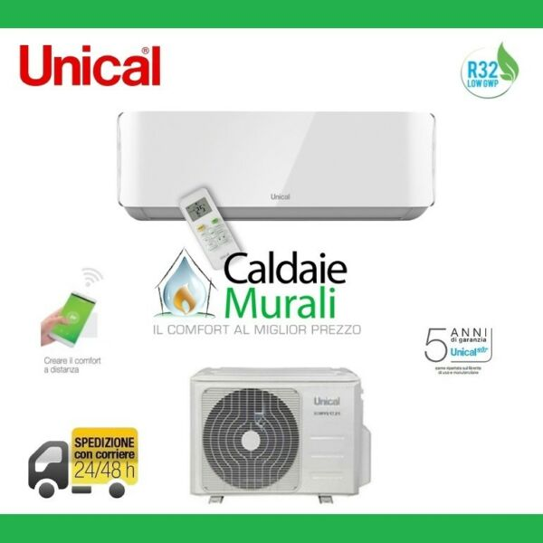 CLIMATISATION UNICAL AIR CRISTAL R-32 9000 BTU MOD.KMUN 10H A