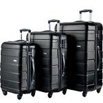 Merax 3Pcs Luggage 20 Inch 24 Inch and 28 Inch 3-Piece Suitcase Spinner Set #Q2