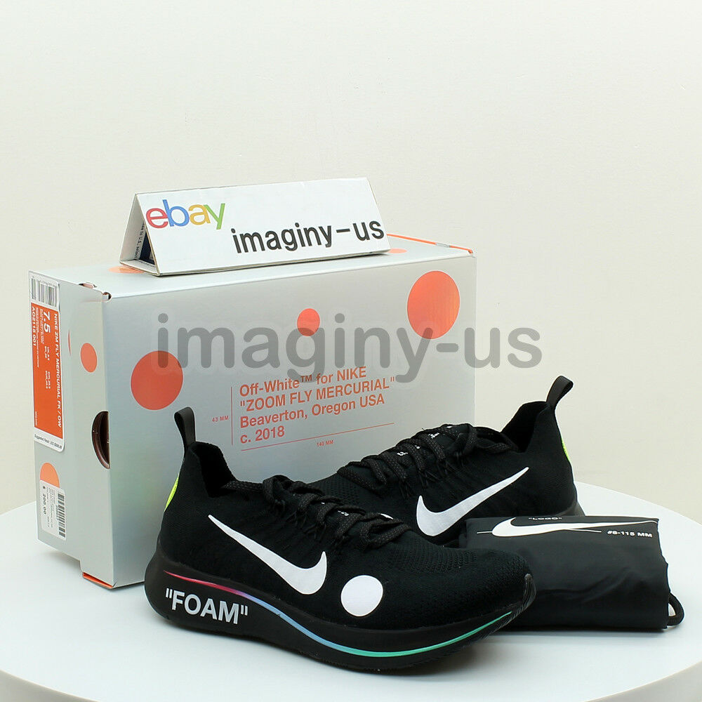1d4f02bb1 Details about NIKE AO2115-001 NIKE ZOOM FLY MERCURIAL FLYKNIT x OFF-WHITE  BLACK IN HAND
