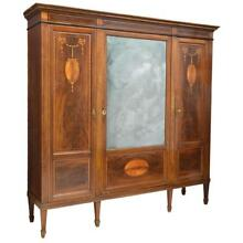 FRENCH LOUIS XVI STYLE MARQUETRY BOOKCASE, Antique
