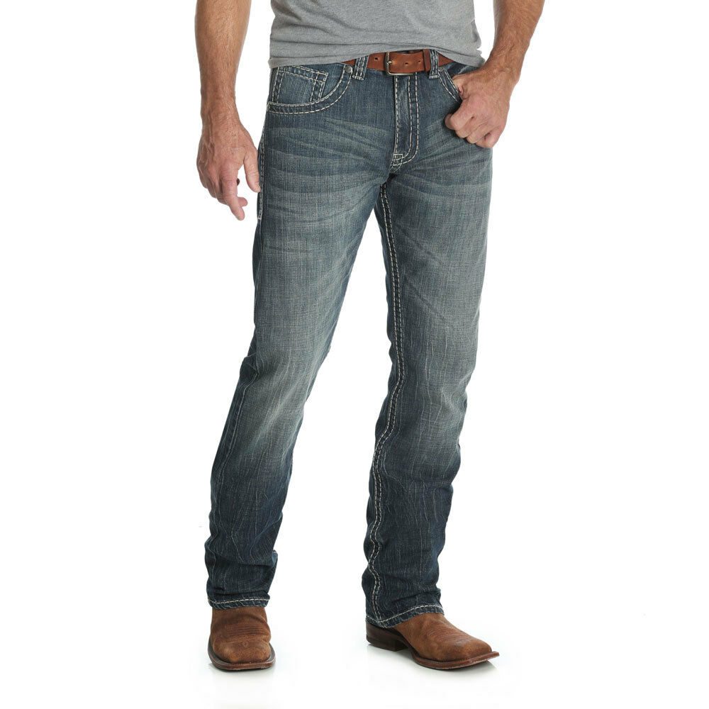 560253b8 Details about MRS47SW Rock 47 by Wrangler Men's Slim Fit Straight Leg Jeans  Color: Show NEW