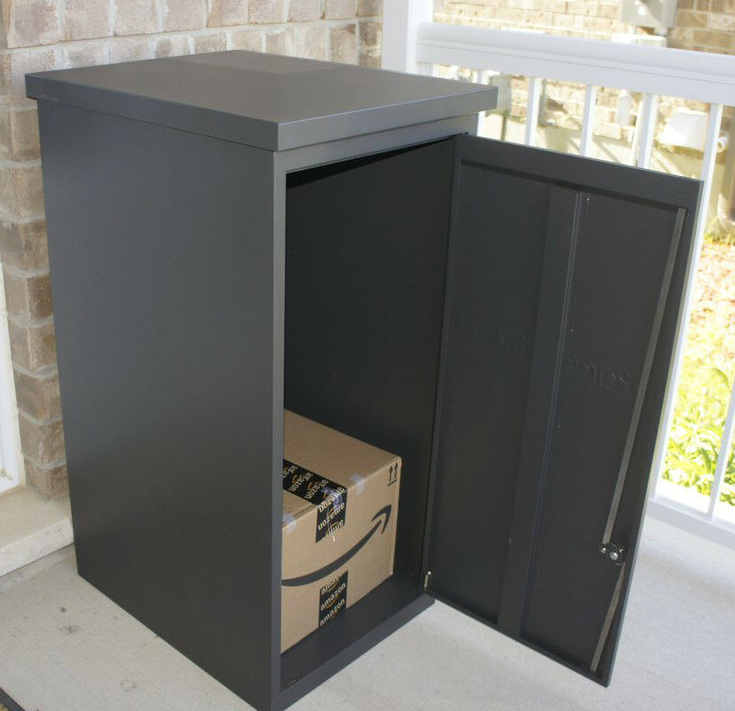 parcel drop box large locking amazon delivery mailbox. Black Bedroom Furniture Sets. Home Design Ideas