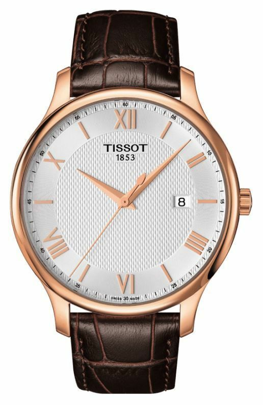 4673dbbba55 Tissot T-Classic Tradition T0636103603800 Rose Gold Leather Swiss Mens  Watch 7611608270967