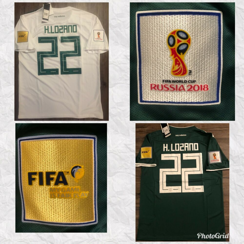 22d6ac81c Details about  FIFA WORLD CUP 2018   HIRVING LOZANO   MEXICO AWAY-HOME  JERSEY