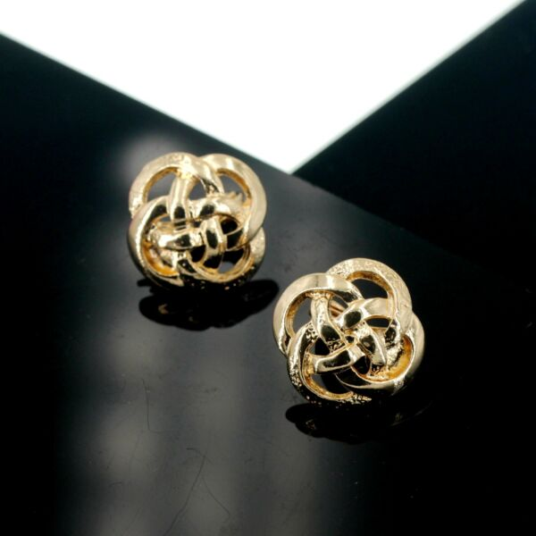 Boucles d'Oreilles CLIP ON NON Percé Puces Filigrane Floral Trefle Retro J13