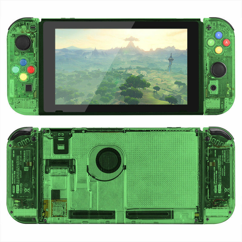 New Custom Clear Atomic Green Nintendo Switch Console