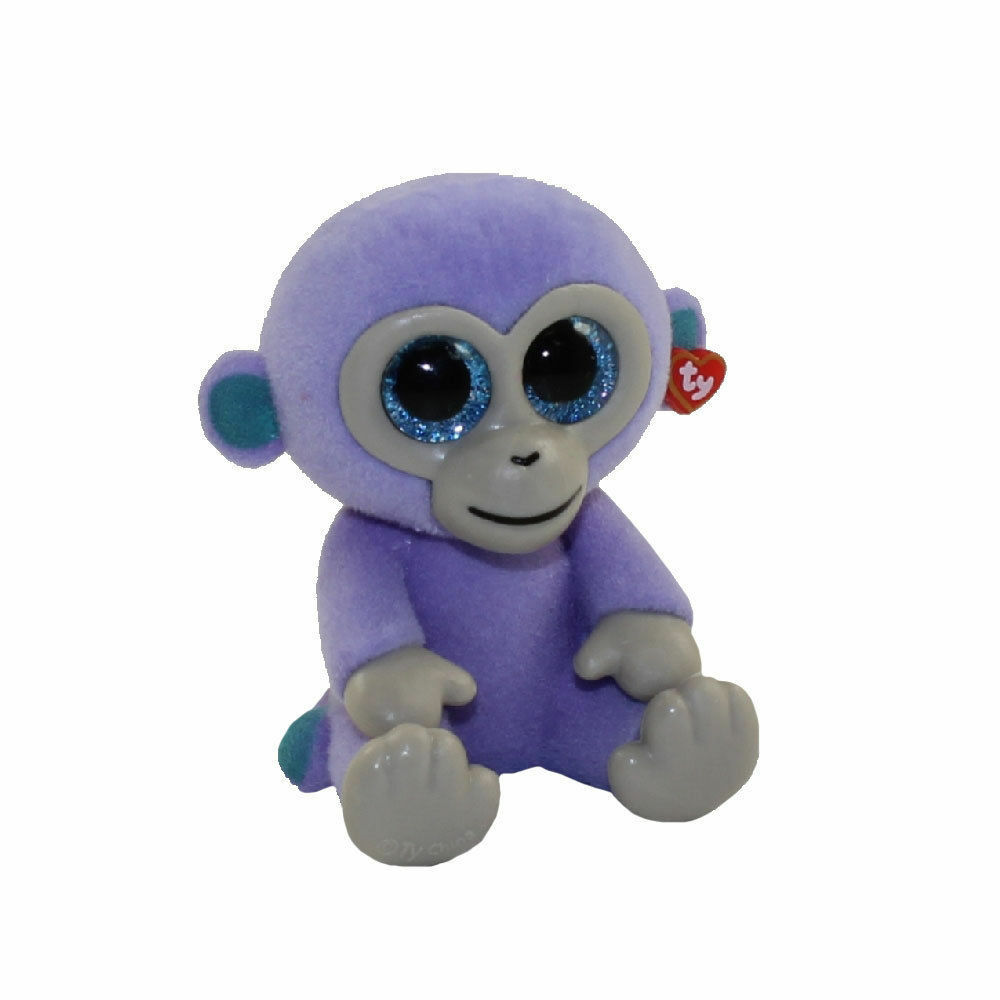 Details about TY Beanie Boos Mini Boo Series 2 Blueberry the Purple Monkey  Flocked Figure d3069075d38