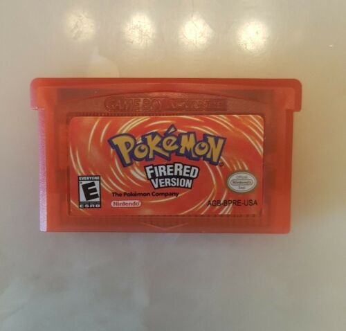 Pokemon Fire Red Version GBA Gameboy Advance Gameboy Reproduction SHIPS FROM USA