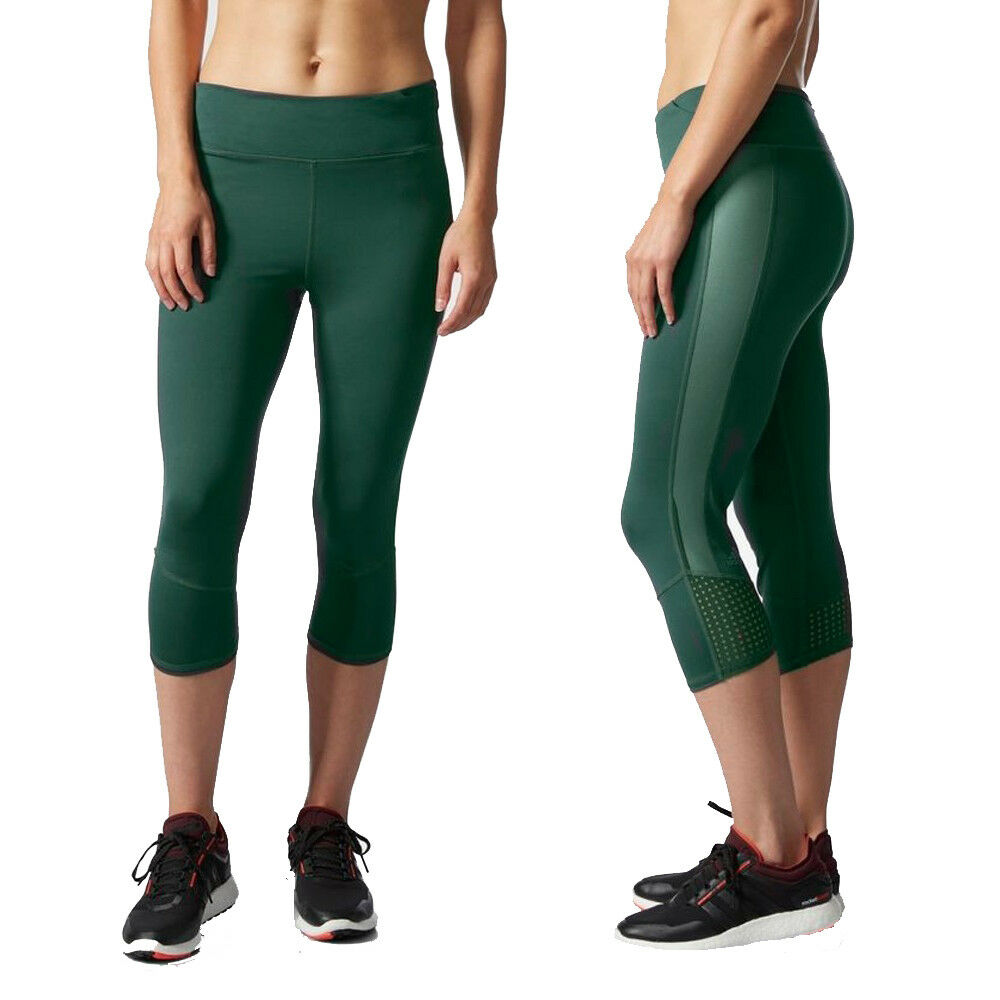 dfc47e156203d Details about adidas Womens Supernova 3/4 Climalite Running Tight Cropped  Capri Gym Legging