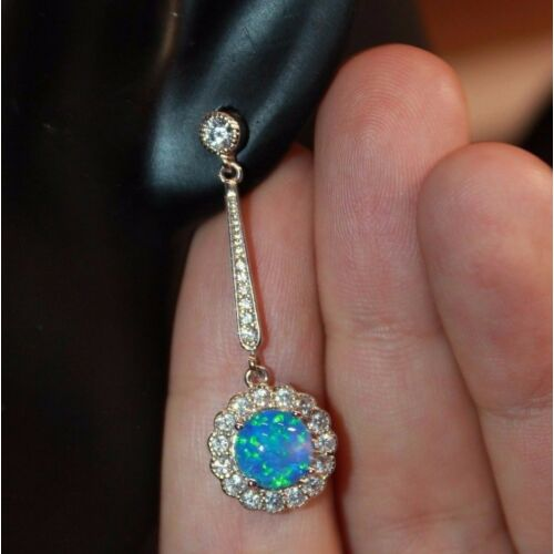 1-pair-fire-opal-cz-earrings-gemstone-silver-jewelry-chic-cocktail-drop-stud-d1