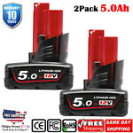 2X 12 Volt Milwaukee 48-11-2460 M12 RED LITHIUM XC 4.0 Extended Capacity Battery