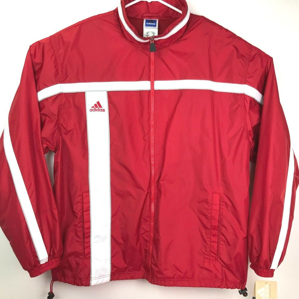 f8aa2cff2cdd Details about VINTAGE NEW WITH TAGS ADIDAS red Tracksuit mens sz xl  windbreaker and pants 1998
