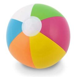24in Beach Ball Inflatable Multi Coloured Holiday Swimming Pool Party Toy