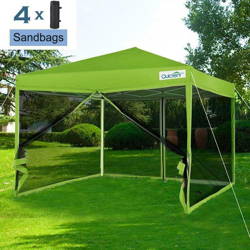 Quictent 10x10 Pop Up Canopy Gazebo With Netting Screen