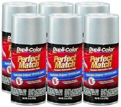 DupliColor Classic Silver Mica Toyota  (1F7) 8 oz. Spray Paint (Pack of 6)